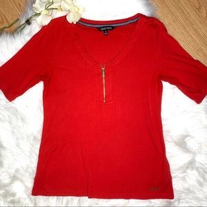 🌿Ellen Tracy Red Top Small